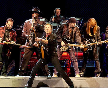 springsteen and band